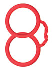 Hand Cuffs Silicone Red